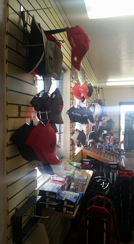 Interior shot of the pro shop at Iron Eagle Golf Course